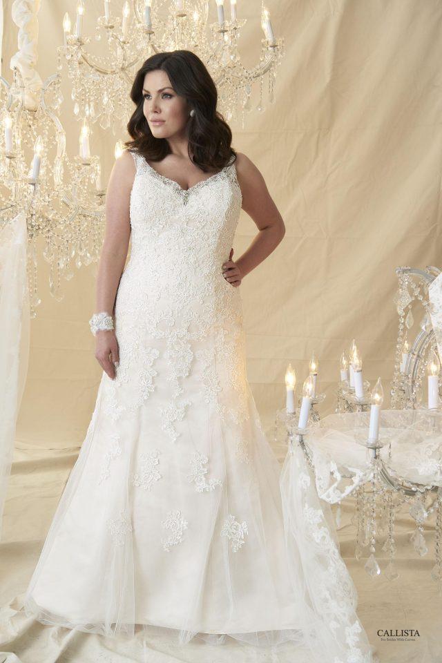 Plus Size Bride - Crystal Bows Bridal Wear